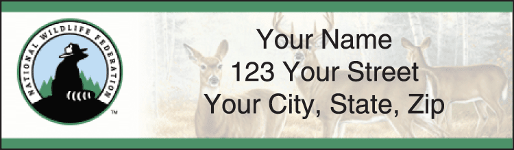 National Wildlife Federation Wildlife Address Labels - click to view larger image