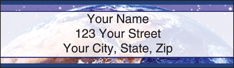 One Earth Address Labels - click to view larger image