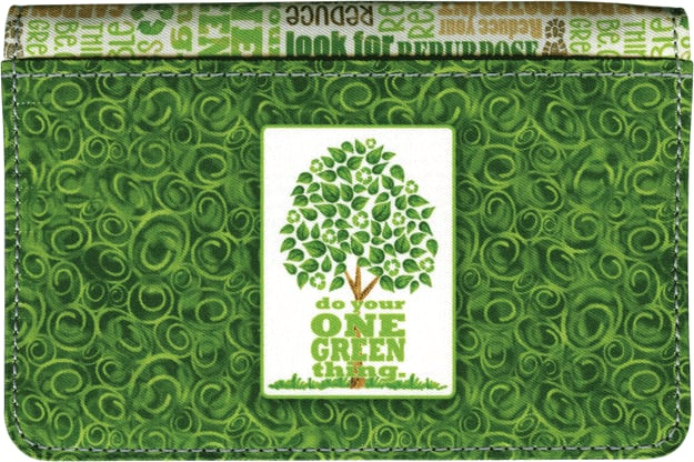 One Green Thing Debit Wallet - click to view larger image