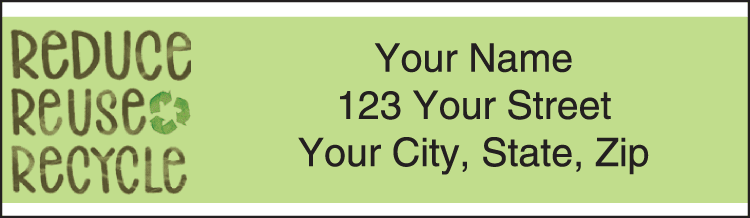 One Green Thing Address Labels - click to preview