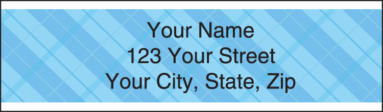 Plaid Address Labels - click to view larger image