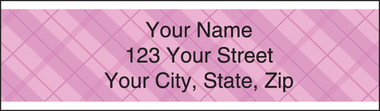 Plaid Address Labels - click to preview