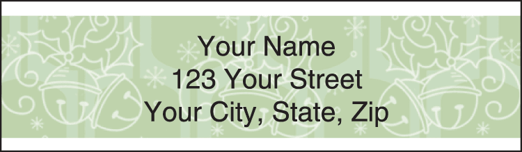 Retro Christmas Address Labels - click to preview