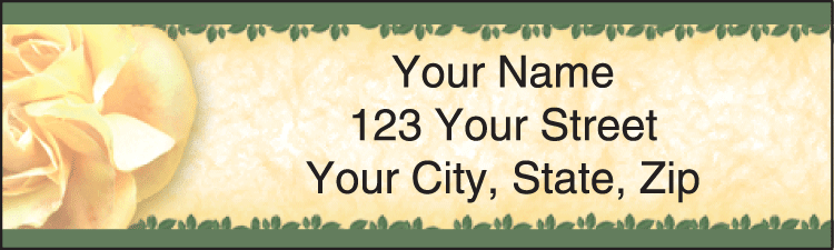 roses address labels - click to preview