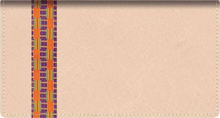 Shades of Africa Fabric Checkbook Cover