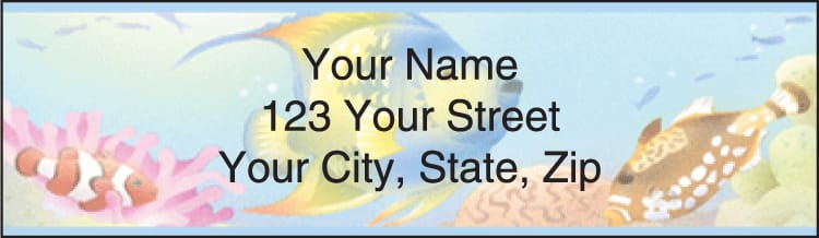 Tropical Reef Address Labels