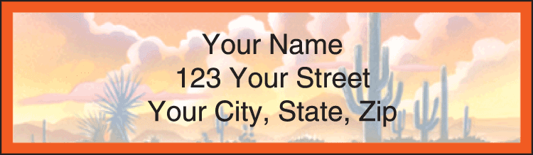 Western Country Address Labels - click to view larger image