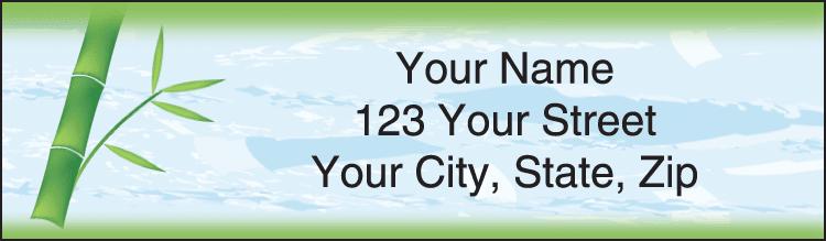 Zen Garden Address Labels - click to preview
