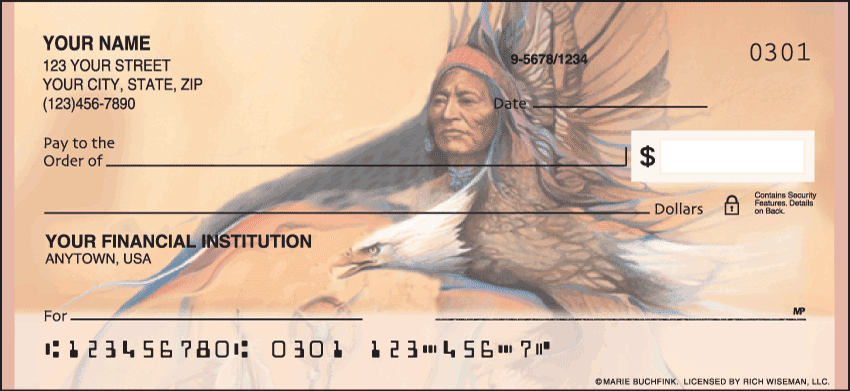 Enlarged view of American Indians Checks