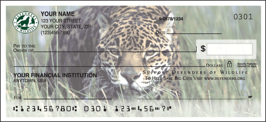 Defenders of Wildlife - Big Cats Checks - click to preview