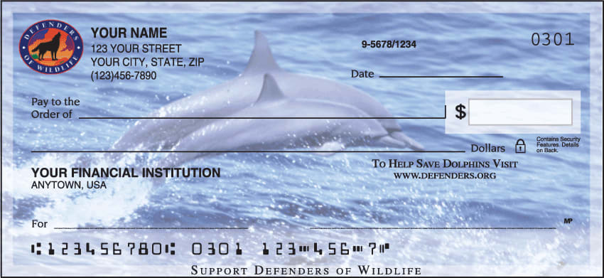 Defenders of Wildlife - Dolphins Checks - click to view larger image