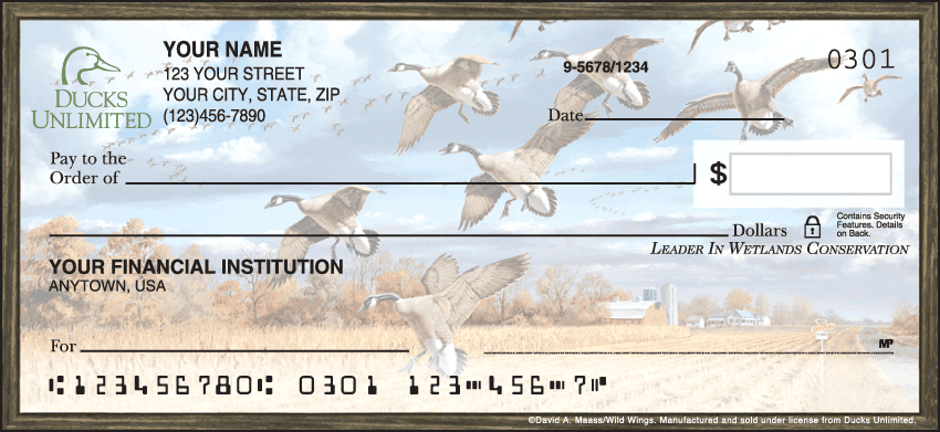 Ducks Unlimited Checks - click to preview