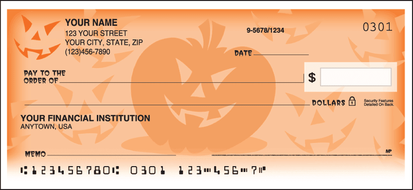 Halloween Checks - click to view larger image
