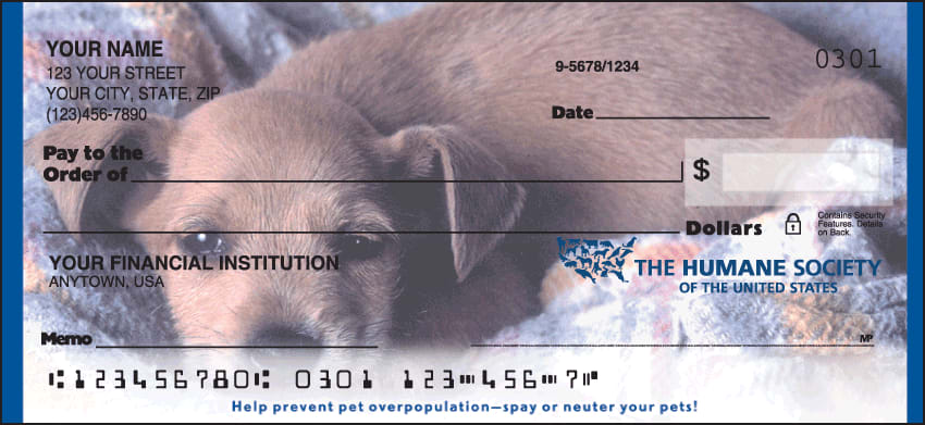 The Humane Society Checks - click to view larger image