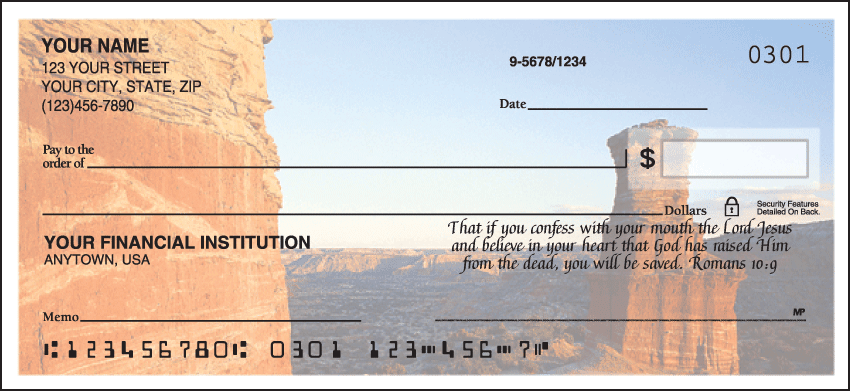 Scenic Bible Verses Checks - click to preview