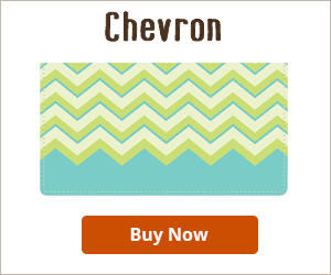 Chevron Checkbook Cover