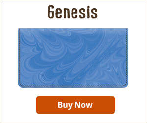 Genesis Leather Checkbook Cover