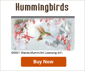 Hummingbirds Fabric Checkbook Cover