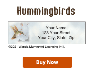 Hummingbirds Address Labels