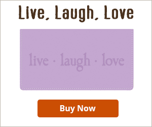 Live, Laugh, Love Checkbook Cover