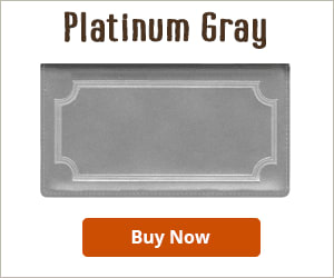 Platinum Gray Leather Checkbook Cover