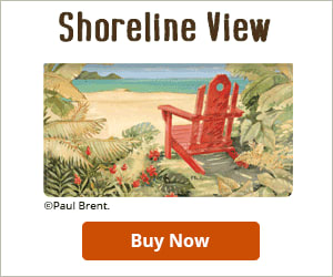 Shoreline View Checkbook Cover