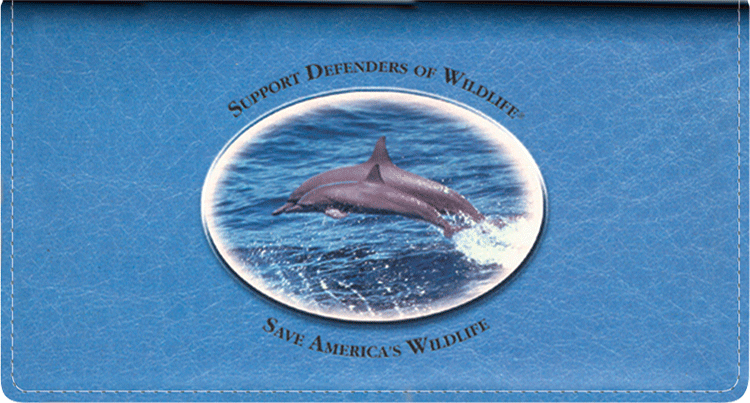 Defenders of Wildlife Dolphins Leather Checkbook Cover
