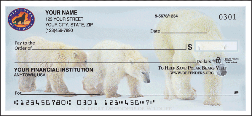 Defenders of Wildlife - Polar Bears Checks - 1 box - Singles