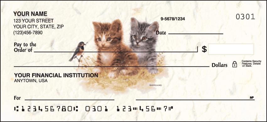 Kittens Checks - 1 box - Singles