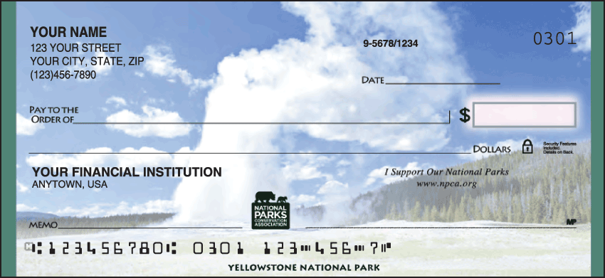 National Parks Conservation Association Checks - 1 box - Singles